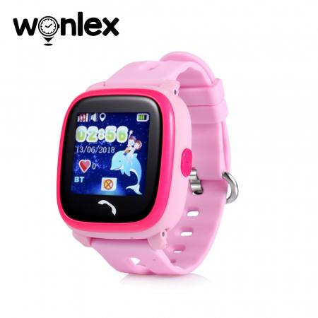 Ceas Smartwatch Pentru Copii Wonlex GW400S WiFi cu Functie Telefon, Localizare GPS, Pedometru, SOS, IP54 ; Roz, Cartela SIM Cadou [0]