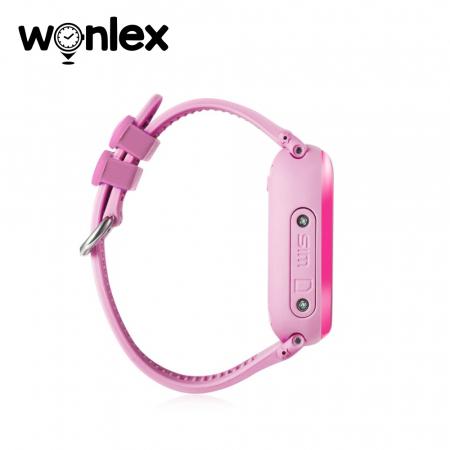 Ceas Smartwatch Pentru Copii Wonlex GW400S WiFi cu Functie Telefon, Localizare GPS, Pedometru, SOS, IP54 ; Roz, Cartela SIM Cadou [1]