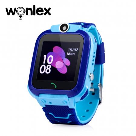 Ceas Smartwatch Pentru Copii Wonlex GW600S cu Functie Telefon, Localizare GPS, Monitorizare somn, Camera, Pedometru, SOS, IP54 ; Albastru, Cartela SIM Cadou [0]
