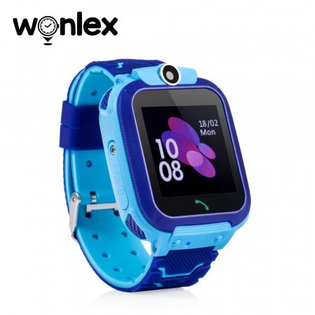 Ceas Smartwatch Pentru Copii Wonlex GW600S cu Functie Telefon, Localizare GPS, Monitorizare somn, Camera, Pedometru, SOS, IP54 ; Albastru, Cartela SIM Cadou [1]