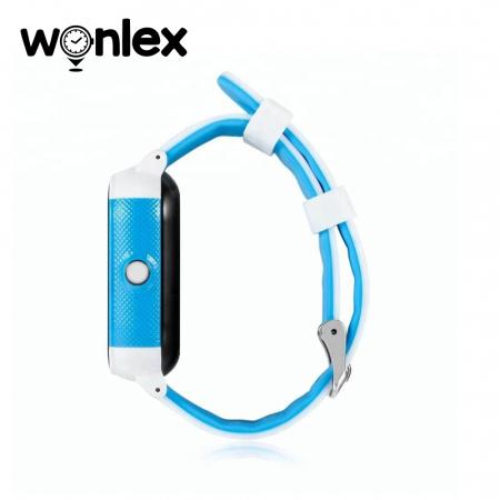 Ceas Smartwatch Pentru Copii Wonlex GW700S cu Functie Telefon, Localizare GPS, Pedometru, SOS, IP54 ; Alb-Albastru, Cartela SIM Cadou [2]