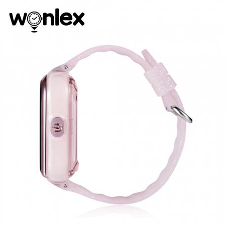 Ceas Smartwatch Pentru Copii Wonlex KT01 cu Functie Telefon, Localizare GPS, Camera, Pedometru, SOS, IP54 ; Roz Pal, Cartela SIM Cadou [2]
