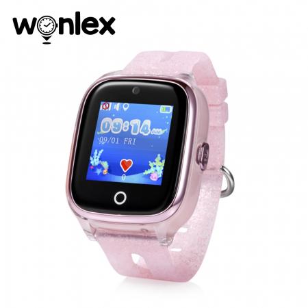 Ceas Smartwatch Pentru Copii Wonlex KT01 cu Functie Telefon, Localizare GPS, Camera, Pedometru, SOS, IP54 ; Roz Pal, Cartela SIM Cadou [0]