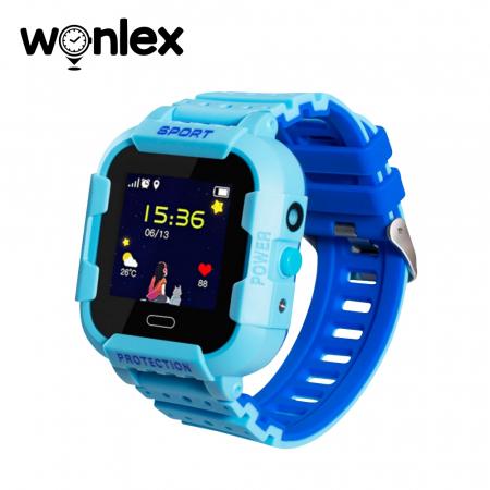 Ceas Smartwatch Pentru Copii Wonlex KT03 cu Functie Telefon, Localizare GPS, Camera, Pedometru, SOS, IP54 ; Albastru, Cartela SIM Cadou [0]