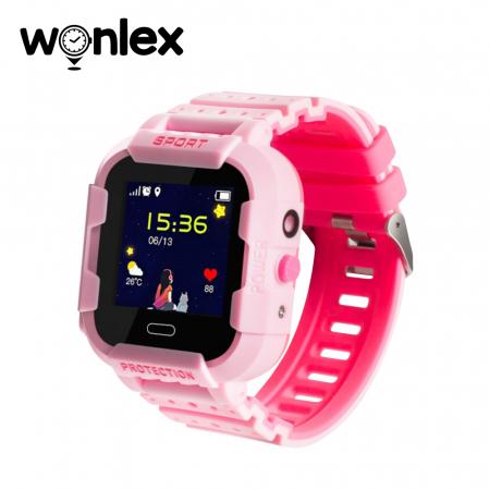 Ceas Smartwatch Pentru Copii Wonlex KT03 cu Functie Telefon, Localizare GPS, Camera, Pedometru, SOS, IP54 ; Roz, Cartela SIM Cadou [0]