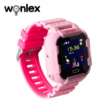 Ceas Smartwatch Pentru Copii Wonlex KT03 cu Functie Telefon, Localizare GPS, Camera, Pedometru, SOS, IP54 ; Roz, Cartela SIM Cadou [2]