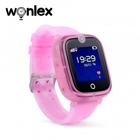 Ceas Smartwatch Pentru Copii Wonlex KT07 cu Functie Telefon, Localizare GPS, Camera, Apel Monitorizare, Pedometru, SOS ; Roz, Cartela SIM Cadou [1]