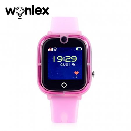 Ceas Smartwatch Pentru Copii Wonlex KT07 cu Functie Telefon, Localizare GPS, Camera, Apel Monitorizare, Pedometru, SOS ; Roz, Cartela SIM Cadou [2]