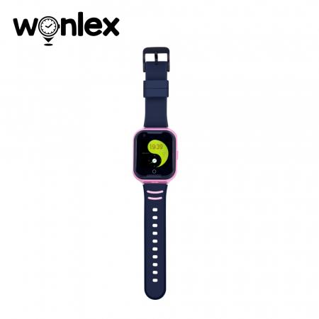 Ceas Smartwatch Pentru Copii Wonlex KT11 cu Functie Telefon, Apel video, Localizare GPS, Camera, Pedometru, Lanterna, SOS, IP54, 4G ; Roz, Cartela SIM Cadou [3]
