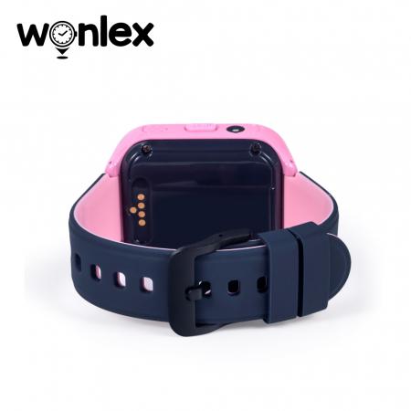 Ceas Smartwatch Pentru Copii Wonlex KT11 cu Functie Telefon, Apel video, Localizare GPS, Camera, Pedometru, Lanterna, SOS, IP54, 4G ; Roz, Cartela SIM Cadou [4]
