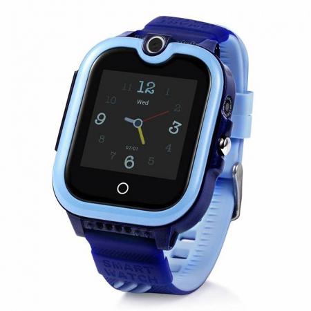 Ceas Smartwatch Pentru Copii, Wonlex KT13, Albastru, SIM card, 4G, Rezistent la stropi IP54, Apel video [0]