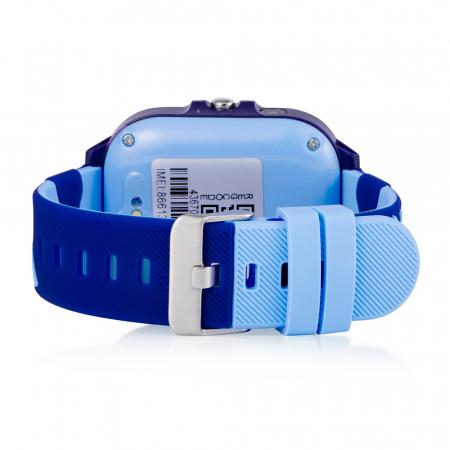 Ceas Smartwatch Pentru Copii, Wonlex KT13, Albastru, SIM card, 4G, Rezistent la stropi IP54, Apel video [3]