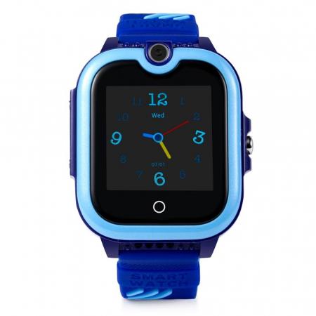 Ceas Smartwatch Pentru Copii, Wonlex KT13, Albastru, SIM card, 4G, Rezistent la stropi IP54, Apel video [1]