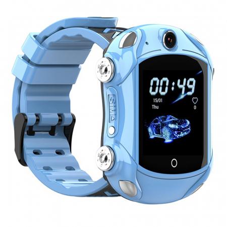 Ceas Smartwatch Pentru Copii, Wonlex KT14, Supercar, Albastru, SIM card, 4G, Rezistent la stropi accidentali IP54, Apel video [2]