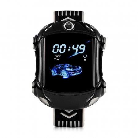 Ceas Smartwatch Pentru Copii, Wonlex KT14, Supercar, Negru, SIM card, 4G, Rezistent la stropi accidentali IP54, Apel video [1]