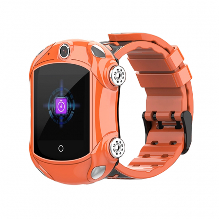 Ceas Smartwatch Pentru Copii, Wonlex KT14, Supercar, Portocaliu, SIM card, 4G, Rezistent la stropi accidentali IP54, Apel video [0]