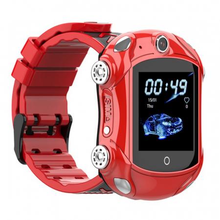 Ceas Smartwatch Pentru Copii, Wonlex KT14, Supercar, Rosu, SIM card, 4G, Rezistent la stropi accidentali IP54, Apel video [0]