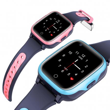 Ceas Smartwatch Pentru Copii, Wonlex KT15, Albastru, SIM card, 4G, Rezistent la apa IP54, Apel video [1]
