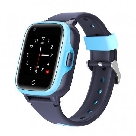 Ceas Smartwatch Pentru Copii, Wonlex KT15, Albastru, SIM card, 4G, Rezistent la apa IP54, Apel video [0]