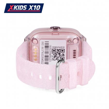 Ceas Smartwatch Pentru Copii Xkids X10 cu Functie Telefon, Localizare GPS, Apel monitorizare, Camera, Pedometru, SOS, IP54, Roz Pal, Cartela SIM Cadou, Meniu engleza [3]