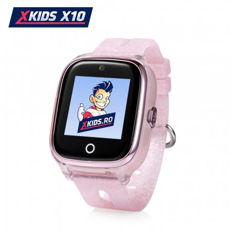 Ceas Smartwatch Pentru Copii Xkids X10 cu Functie Telefon, Localizare GPS, Apel monitorizare, Camera, Pedometru, SOS, IP54, Roz Pal, Cartela SIM Cadou, Meniu romana [0]