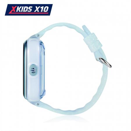Ceas Smartwatch Pentru Copii Xkids X10 cu Functie Telefon, Localizare GPS, Apel monitorizare, Camera, Pedometru, SOS, IP54, Turcoaz, Cartela SIM Cadou, Meniu romana [2]