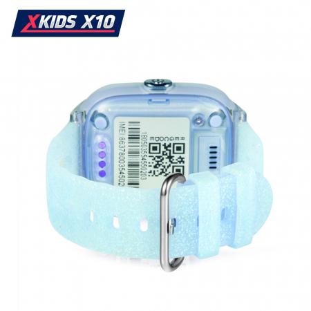 Ceas Smartwatch Pentru Copii Xkids X10 cu Functie Telefon, Localizare GPS, Apel monitorizare, Camera, Pedometru, SOS, IP54, Turcoaz, Cartela SIM Cadou, Meniu romana [3]