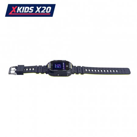 Ceas Smartwatch Pentru Copii Xkids X20 cu Functie Telefon, Localizare GPS, Apel monitorizare, Camera, Pedometru, SOS, IP54, Incarcare magnetica, Negru ; Verde Lamaie, Cartela SIM Cadou, Meniu romana [4]