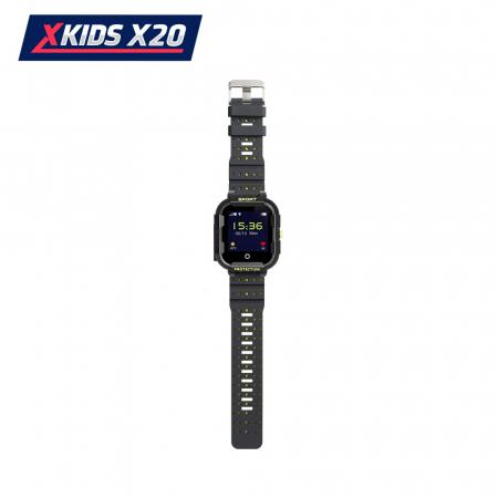 Ceas Smartwatch Pentru Copii Xkids X20 cu Functie Telefon, Localizare GPS, Apel monitorizare, Camera, Pedometru, SOS, IP54, Incarcare magnetica, Negru ; Verde Lamaie, Cartela SIM Cadou, Meniu romana [3]