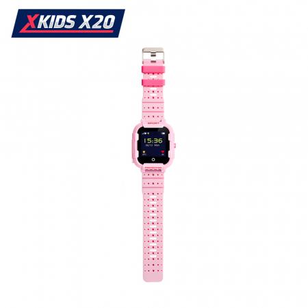 Ceas Smartwatch Pentru Copii Xkids X20 cu Functie Telefon, Localizare GPS, Apel monitorizare, Camera, Pedometru, SOS, IP54, Incarcare magnetica, Roz, Cartela SIM Cadou, Meniu romana [3]