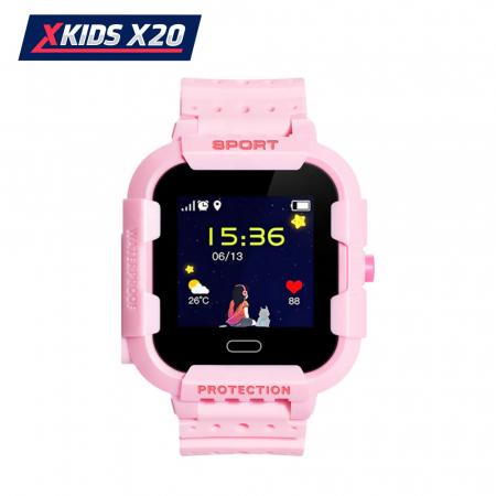 Ceas Smartwatch Pentru Copii Xkids X20 cu Functie Telefon, Localizare GPS, Apel monitorizare, Camera, Pedometru, SOS, IP54, Incarcare magnetica, Roz, Cartela SIM Cadou, Meniu romana [1]