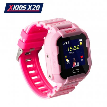Ceas Smartwatch Pentru Copii Xkids X20 cu Functie Telefon, Localizare GPS, Apel monitorizare, Camera, Pedometru, SOS, IP54, Incarcare magnetica, Roz, Cartela SIM Cadou, Meniu romana [2]