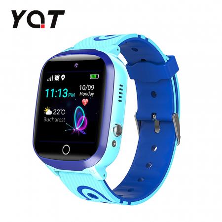 Ceas Smartwatch Pentru Copii YQT Q13 cu Functie Telefon, Localizare GPS, Istoric traseu, Apel de Monitorizare, Camera, SOS, Joc Matematic, Albastru, Cartela SIM Cadou [0]