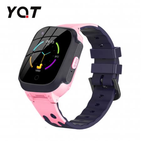 Ceas Smartwatch Pentru Copii YQT T8 cu Functie Telefon, Apel video, Localizare GPS, Istoric traseu, Pedometru, Apel de Monitorizare, Camera, Android, 4G, Roz, Cartela SIM Cadou [0]