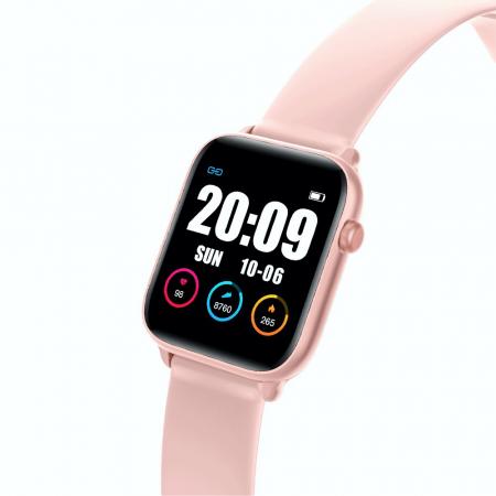 Ceas Smartwatch Twinkler TKY H30 KW37, Roz, Memento sedentar, Termometru, Monitorizarea somnului [1]