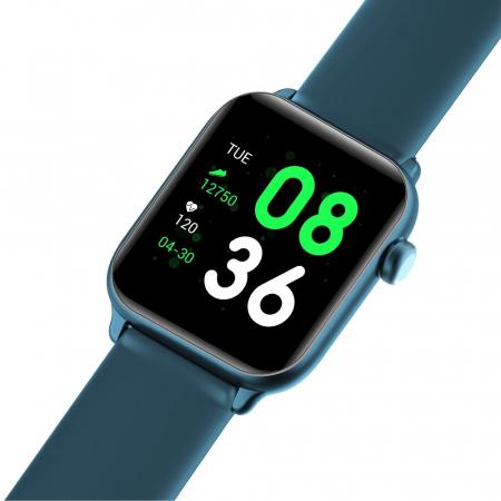 Ceas Smartwatch Twinkler TKY H30 KW37, Verde inchis, Memento sedentar, Termometru, Monitorizarea somnului [3]