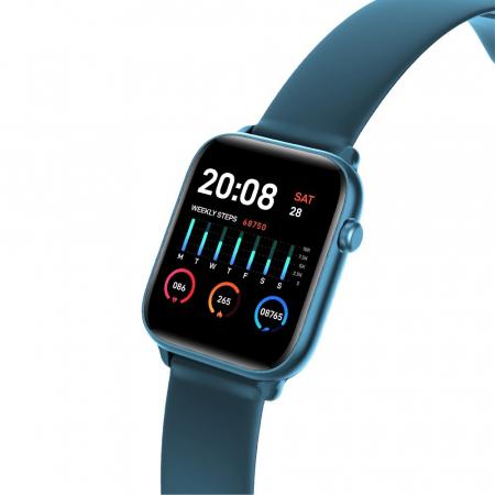 Ceas Smartwatch Twinkler TKY H30 KW37, Verde inchis, Memento sedentar, Termometru, Monitorizarea somnului [2]