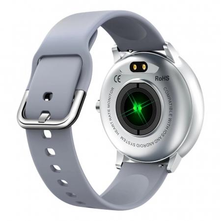 Ceas smartwatch, Twinkler TKY-K16, Gri, Bratara silicon, Monitorizare ritm cardiac, Pedometru, Notificari, 8 moduri sportive [2]