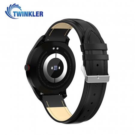Ceas Smartwatch Twinkler TKY-M9 (L9) cu functie de monitorizare ritm cardiac, Tensiune arteriala, EKG, Nivel oxigen, Notificari Apel/ SMS, Incarcare magnetica, Negru [1]