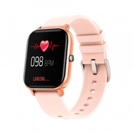 Ceas Smartwatch Twinkler TKY-P8, Auriu, Masurare ritm cardiac, Pedometru, Moduri sportive, Memento sedentar [0]