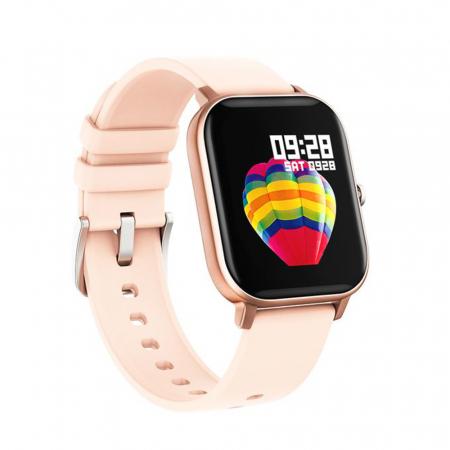 Ceas Smartwatch Twinkler TKY-P8, Auriu, Masurare ritm cardiac, Pedometru, Moduri sportive, Memento sedentar [1]