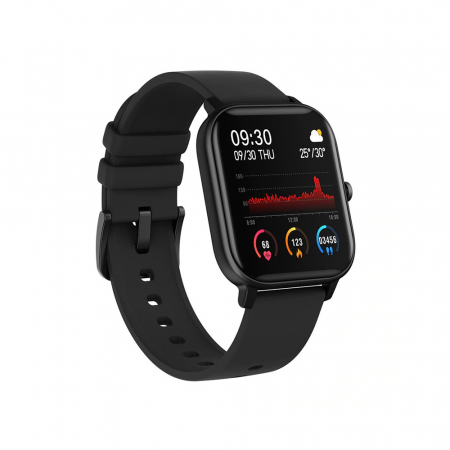 Ceas Smartwatch Twinkler TKY-P8, Negru, Masurare ritm cardiac, Pedometru, Moduri sportive, Memento sedentar [1]