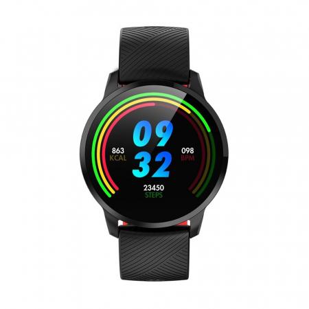 Ceas Smartwatch Twinkler TKY-S16, Rosu si Negru, Monitorizare ritm cardiac, Tensiune arteriala, Calorii, Distanta parcursa [2]