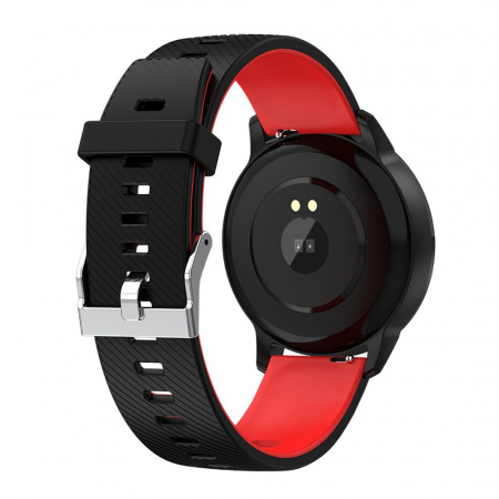 Ceas Smartwatch Twinkler TKY-S16, Rosu si Negru, Monitorizare ritm cardiac, Tensiune arteriala, Calorii, Distanta parcursa [1]