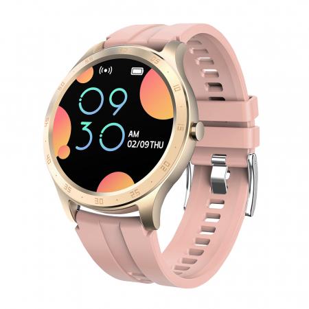 Ceas smartwatch Twinkler TKY-S20, Roz, Notificari, Pedometru, Moduri sportive, Cronometru [0]