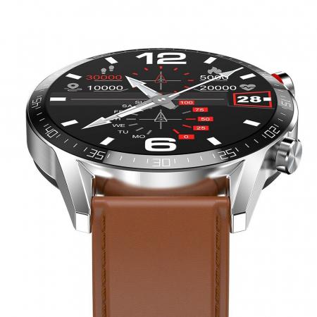 Ceas smartwatch, Twinkler TKY-SW03, Maro, Functie masurarea ritmului cardiac, Rezistenta IP54, Bluetooth [4]