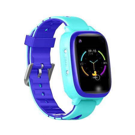 Ceas smartwatch YQT T5S, 4G, Albastru, Masurarea temperaturii, Pedometru, Verificare istoric, Alarma, Lanterna [0]