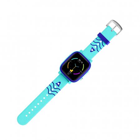 Ceas smartwatch YQT T5S, 4G, Albastru, Masurarea temperaturii, Pedometru, Verificare istoric, Alarma, Lanterna [4]
