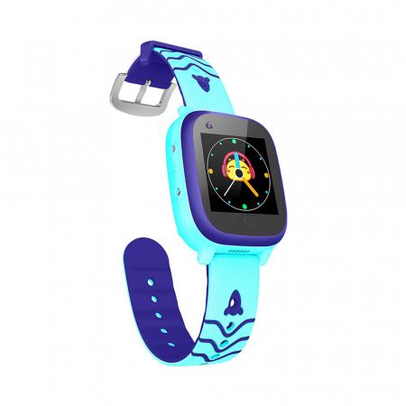 Ceas smartwatch YQT T5S, 4G, Albastru, Masurarea temperaturii, Pedometru, Verificare istoric, Alarma, Lanterna [3]