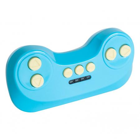 Masinuta electrica cu lumini LED pentru copii, telecomanda, player muzica USB si lumini, culoare rosu [10]